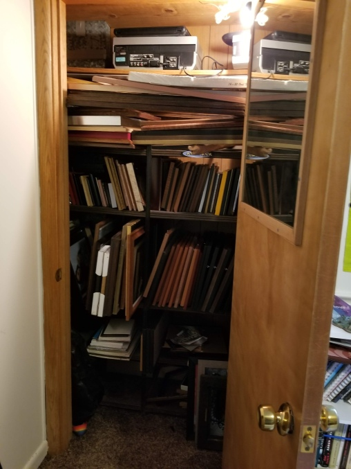 before i took out the closet shelves